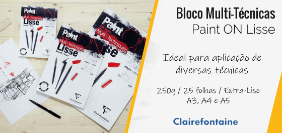 Bloco Papel Clairefontaine Paint ON Lisse
