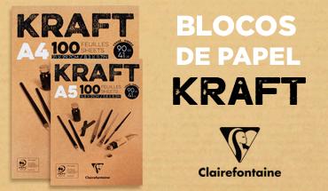 Blocos de Papel Kraft Clairefontaine
