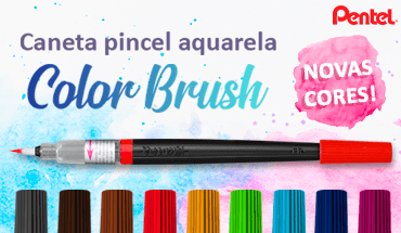Caneta Pincel Color Brush Pentel