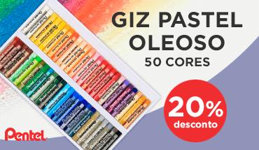 Pastel Oleoso Pentel 50 cores