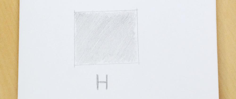 Exemplo de uso do lápis H