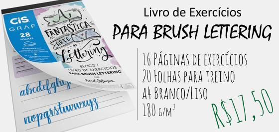 Bloco de Exercícios para Brush Lettering