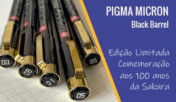 Caneta Nanquim Pigma Micron Black Barrel