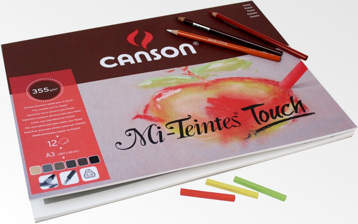 Bloco Papel Mi-Teintes Touch Canson A3