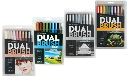 Dual Brush Tombow Set