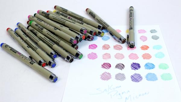 Canetas Pigma Micron Sakura Coloridas