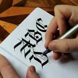 Escrita Caligráfica Gotica