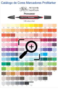 Catálogo de Cores Marcadores Pro Marker