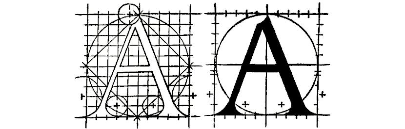 proporção caligráfica